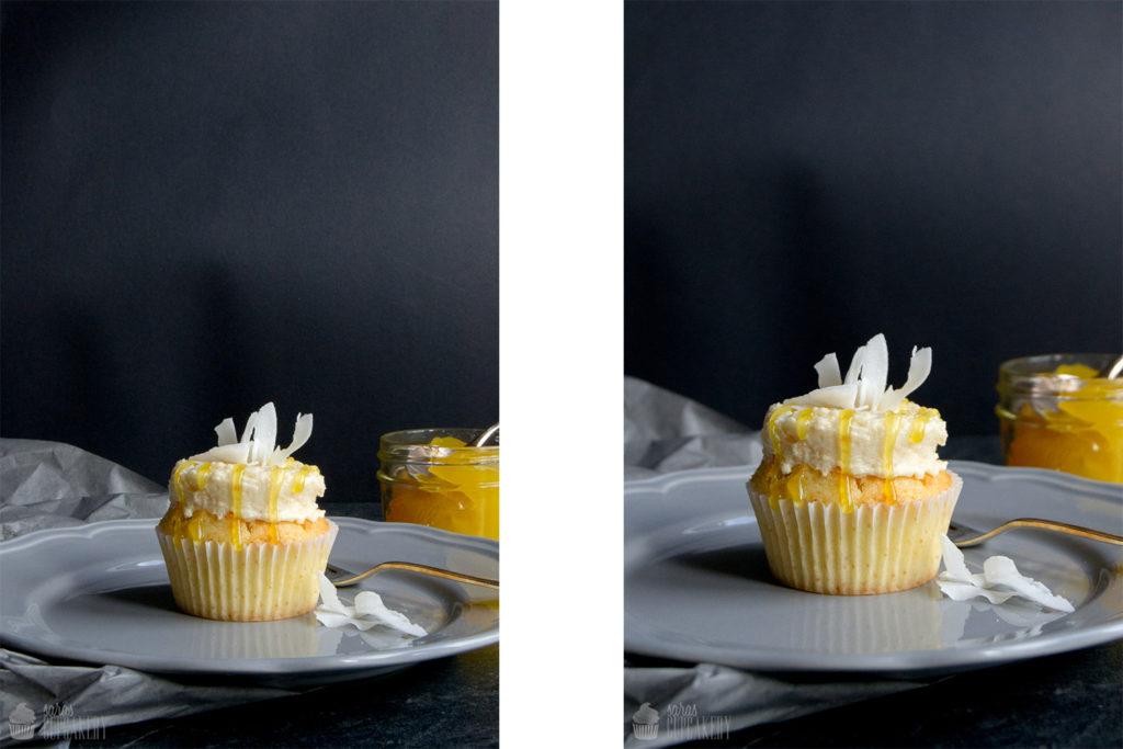 Kokos-Zitronen Cupcakes