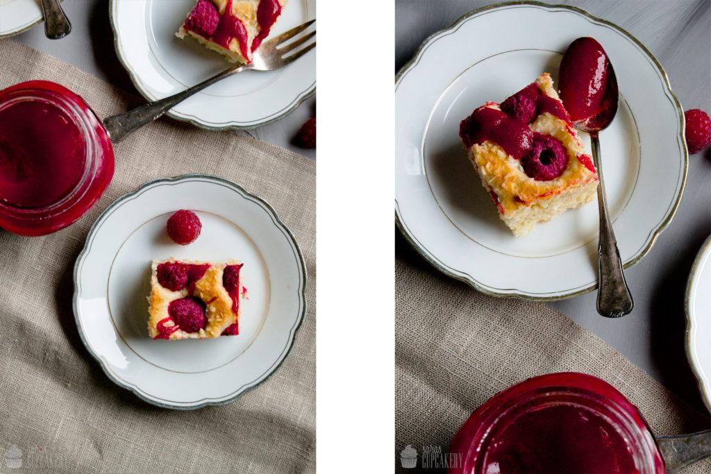 Himbeer-Kokos Kuchen
