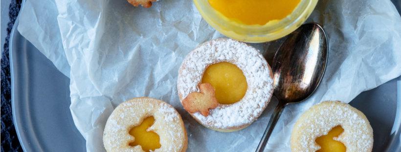 Osterkekse mit Mandarinen Curd
