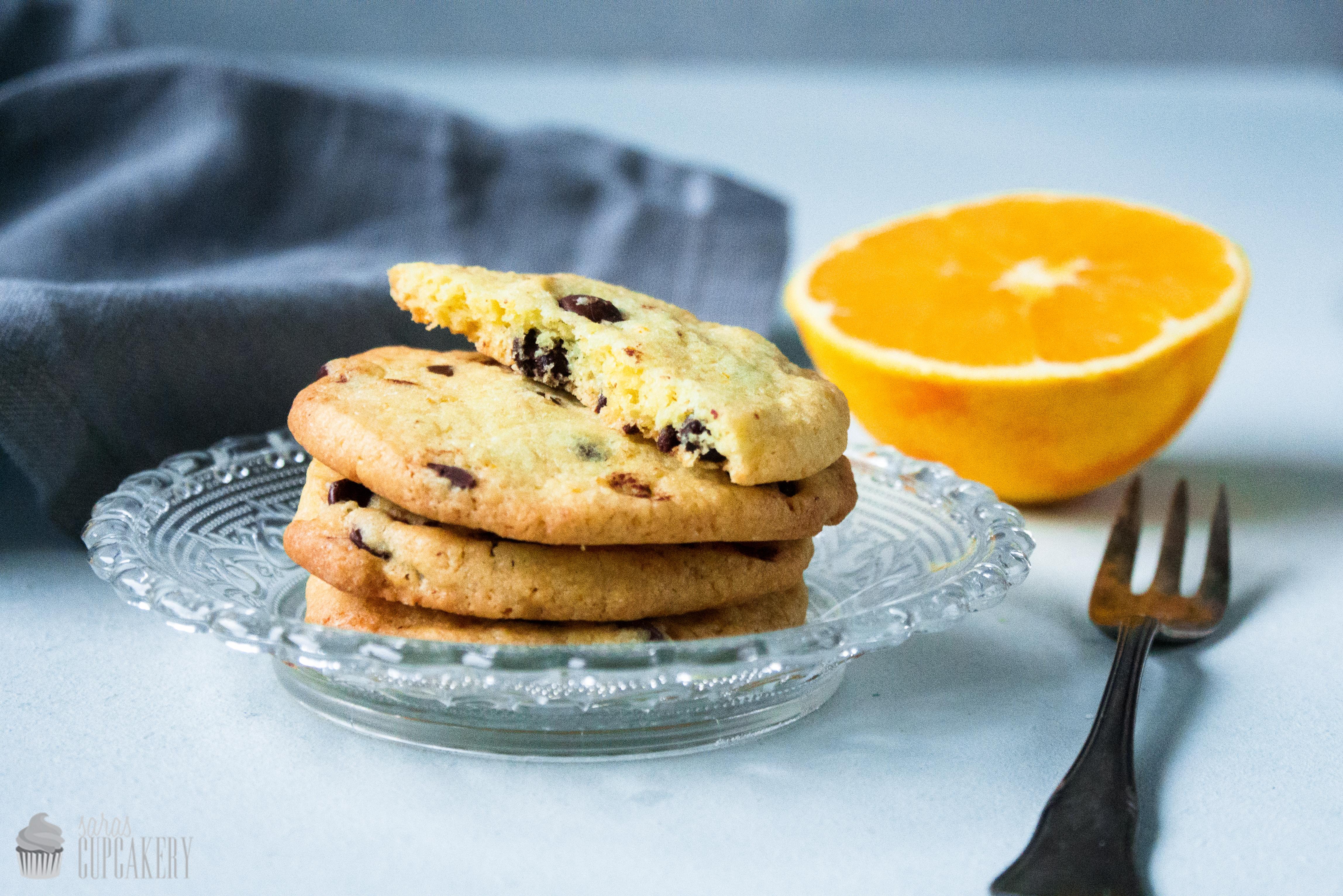 Schokoladen Orangen Cookies