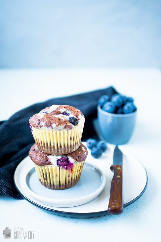 Heidelbeer Cheesecake Muffins