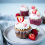 Erdbeer Buttermilch Cupcakes