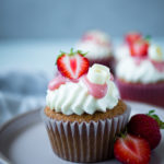 Erdbeer Buttermilch Cupcakes