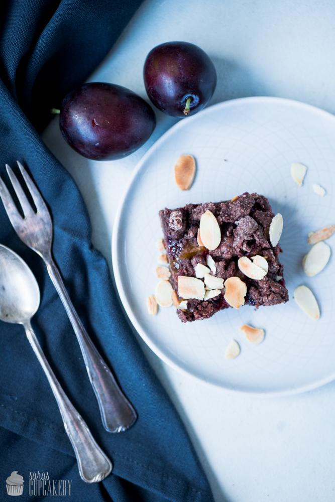 Pflaumen-Schokoladen-Schnitten