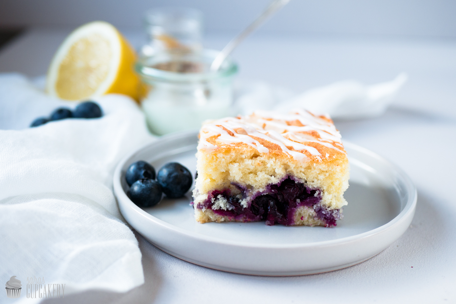 Blaubeer-Vanille Kuchen