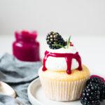 Brombeer-Zitronen Cupcakes