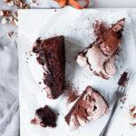 Schokoladen-Haselnuss Meringue Kuchen