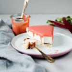 Joghurttorte mit Rhabarbercurd